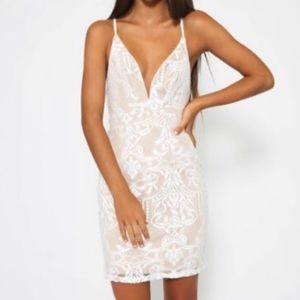 Peppermayo White Lace Dress